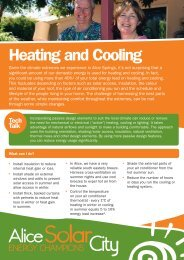 heating and cooling fact sheet - Alice Solar City