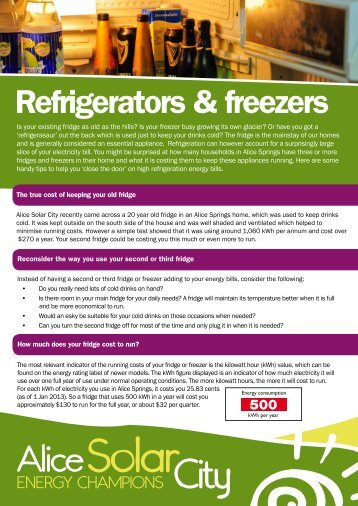 Refrigerators & freezers - Alice Solar City