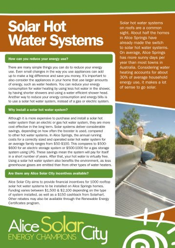 Solar Hot Water Systems - Alice Solar City