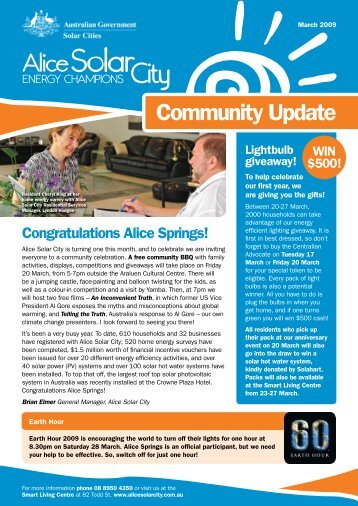 Community newsletter - March 2009 - Alice Solar City