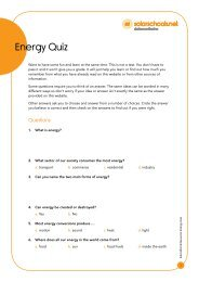 Educational Resource: Energy Quiz - Solarschools.net