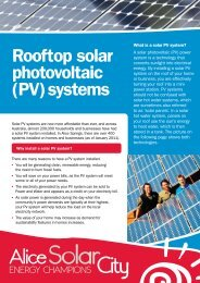 Rooftop solar photovoltaic (PV) systems - Alice Solar City