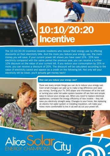10:10/20:20 Incentive - Alice Solar City
