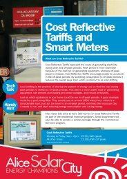 Cost Reflective Tariffs and Smart Meters - Alice Solar City