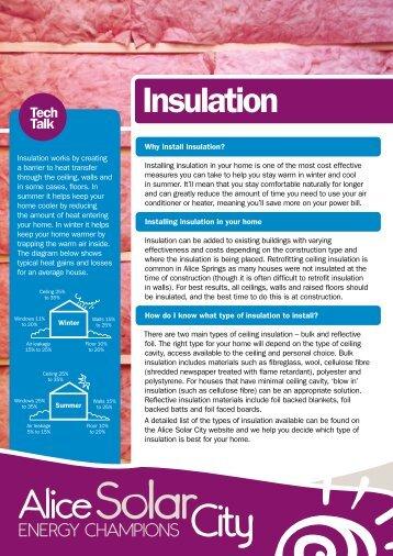 Insulation - Alice Solar City