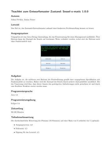 Teachlet zum Entwurfsmuster Zustand: Sessel-o ... - julian-fietkau.de