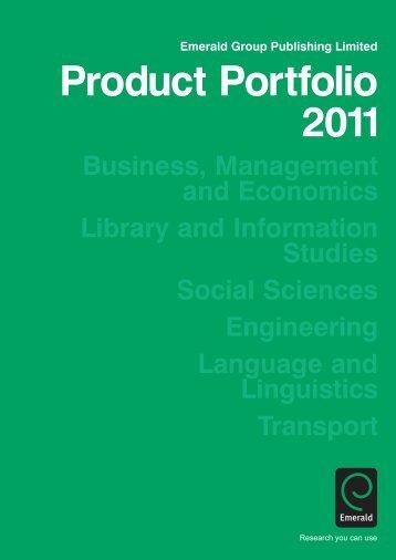 Product Portfolio 2011