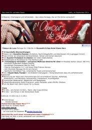 l'Amour de Luxe {E-Mail: 1} - Romantik & Spa Alpen-Herz
