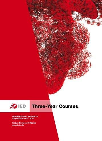three-Year Courses - Istituto Europeo di Design