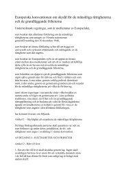 Europeiska konventionen om skydd för de mänskliga rättigheterna ...