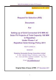 RfS/PV10/RREC/6 Solar PV Projects - Rajasthan Renewable ...