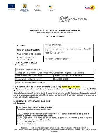 COD CPV 63510000-7 - Fundatia Pentru Voi
