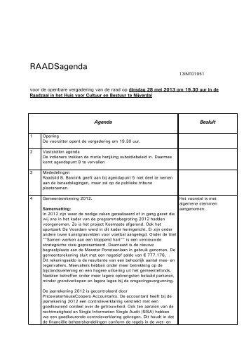 Raadsagenda + Besluit.pdf - gemeente Hellendoorn
