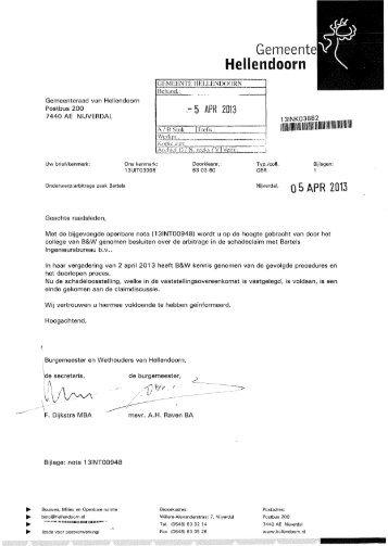 Arbitragezaak Bartels.pdf - Raads - gemeente Hellendoorn