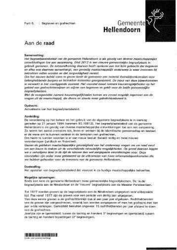 Raadsvoorstel Begraven en grafrechten.pdf - gemeente Hellendoorn