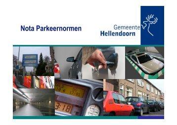 Nota Parkeernormen - gemeente Hellendoorn