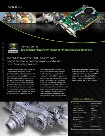 Exceptional Price/Performance for Professional Applications