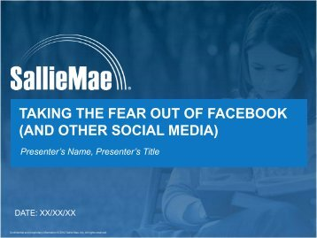 taking the fear out of facebook (and other social media) - masfaa