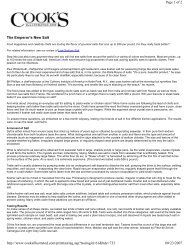 The Emperor's New Salt Page 1 of 2 08/23/2007 http://www ...