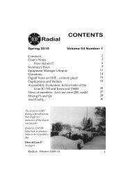 CONTENTS Radial - raibc