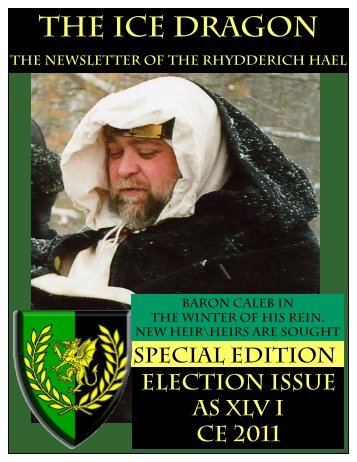 Election Issue 2011 - Ice Dragon