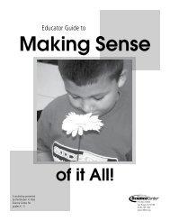 Making Sense of It All - Reuben H. Fleet Science Center