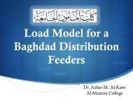 Load Model for a Baghdad Distribution Feeders