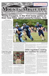 Young Cougars, in the first home game on their ... - Mountain Gazette