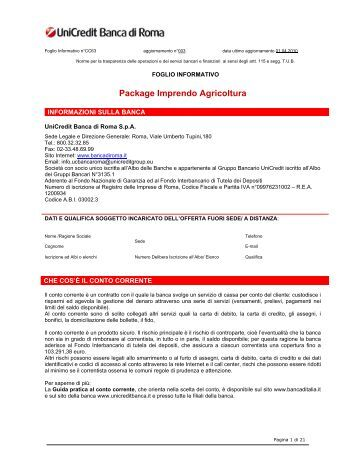 Package Imprendo Agricoltura - Unicredit