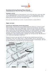 Routebeschrijving Meeting Plaza Utrecht Eigen vervoer - KansPlus
