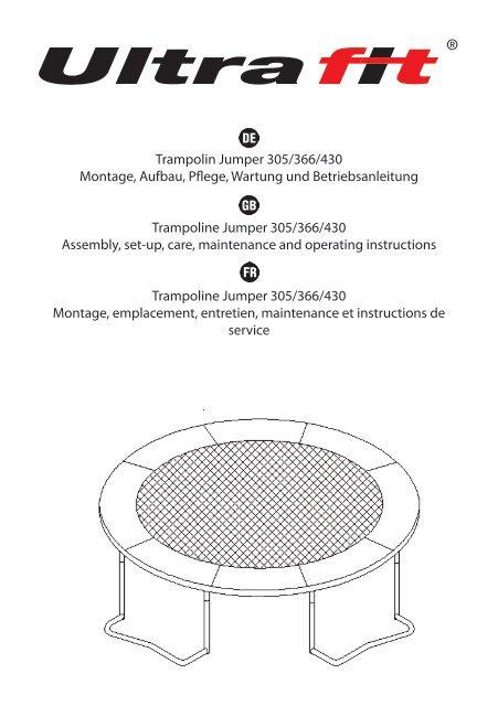 trampolin jumper 305 366 430 montage aufbau. Black Bedroom Furniture Sets. Home Design Ideas