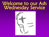 Ash Wednesday 2013