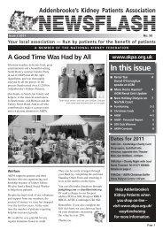 Newsflash 2011 issue 2.pdf - Addenbrooke's Kidney Patients ...