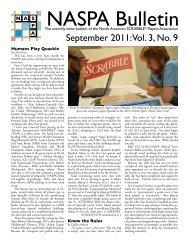 September 2011: Vol. 3, No. 9 - North American Scrabble Players ...