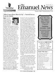 Emanuel News Oct09.indd - The Emanuel Synagogue