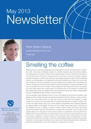 Smelling the coffee - Seilern Investment Management Ltd.