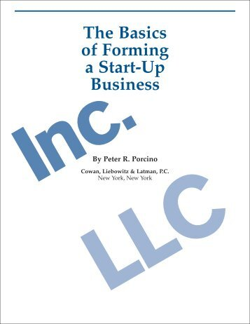 The Basics of Forming a Start-Up Business - Cowan Liebowitz and ...