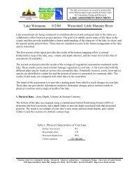 Lake Wimauma Assessment - Hillsborough County & City of Tampa ...