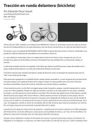 Tracción en rueda delantera (bicicleta) - Innovar