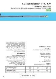 CC-Schleppflex® PVC-570 - ConCab kabel gmbh