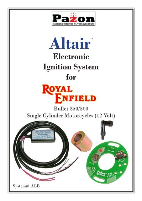 Altair Enfield Bullet - Pazon Ignitions Limited on sparx wiring diagram, bsa wiring diagram, parker wiring diagram, ignition wiring diagram, perkins wiring diagram, page wiring diagram, payne wiring diagram, peterson wiring diagram, boyer wiring diagram, electrical wiring diagram,