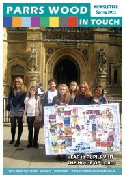 year 10 pupils visit the house of lords - Parrs Wood High School