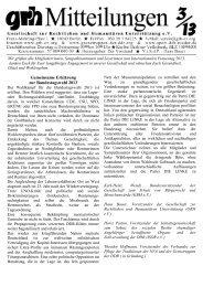 Gemeinsame Erklärung zur Bundestagswahl 2013 - GRH