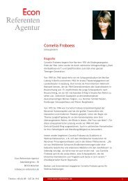 Cornelia Froboess - Econ Referenten-Agentur