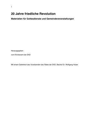 20 Jahre friedliche Revolution - Friedliche Revolution.de