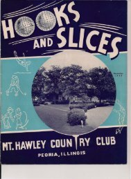 hooks and slices - Mt. Hawley Country Club