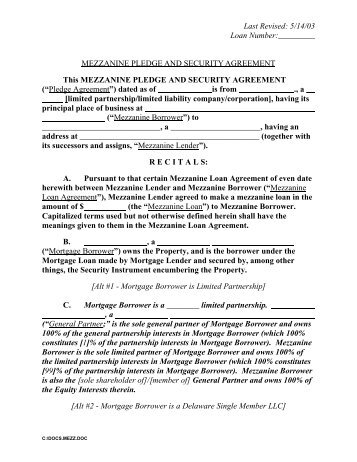 Loan And Security Agreement Covenants  Uccstuff