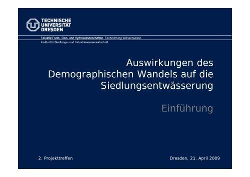 Auswirkungen des Demographischen Wandels auf die ... - DEMOWAS