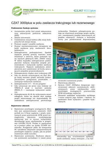 Sterownik CZAT 3000plus w rozdzielni prądu stałego - Elester PKP