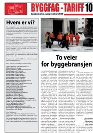 Spesialnummer av tariffavisa - Oslo Bygningsarbeiderforening
